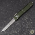 (#121-5OD) Microtech OD Green Ultratech S/E Satin Part Serr - Front
