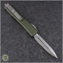 (#122-12OD) Microtech OD Green Ultratech Stonewash D/E Fully Serrated - Back