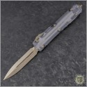 (#122-13CL) Microtech Ultratech D/E Bronze Plain w/ Clear Top - Front