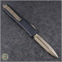 (#122-13GTBK) Microtech Ultratech D/E Bronzed Plain w/ G10 Top - Back