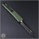 (#122-1CCOD) Microtech OD Green Ultratech Black D/E Plain Contoured Chasis - Back