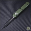 (#122-1CCOD) Microtech OD Green Ultratech Black D/E Plain Contoured Chasis - Front