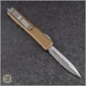 (#122-5TA) Microtech Tan Ultratech D/E Satin Partially Serrated - Back