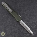 (#122-6OD) Microtech OD Green Ultratech Satin D/E Fully Serrated - Back