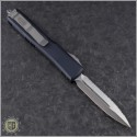 (#122-6) Microtech Ultratech Satin D/E Fully Serrated Contoured Chasis - Back