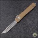 (#123-10TA) Microtech Tan Ultratech T/E Stonewash Plain - Front