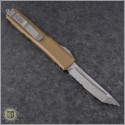 (#123-11TA) Microtech Tan Ultratech T/E Stonewash Serrated - Back