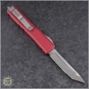 (#123-4RD) Microtech Red Ultratech T/E Satin Plain - Back