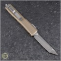 (#123-5TA) Microtech Tan Ultratech T/E Satin Partially Serrated - Back