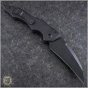 (#131-1T) Microtech Kestrel Wharncliffe Black Tactical Plain - Back