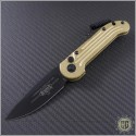 (#135-1BR) Microtech Brass LUDT Black Standard - Front