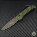 (#135-1GR) Microtech OD Green LUDT Green Hardware / Black - Front