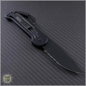 (#135-2T) Microtech LUDT Black Partially Serrated Tactical  - Back