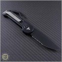 (#135-2) Microtech LUDT Black Partially Serrated - Back