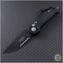 (#135-2) Microtech LUDT Black Partially Serrated - Front