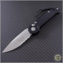 (#135-5) Microtech LUDT Satin Partially Serrated - Front