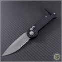 (#135-8) Microtech LUDT Bead Blast Partially Serrated - Front