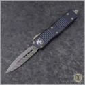 (#138-16) Microtech Troodon D/E Signature Damascus - Front