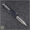 (#138-5) Microtech Troodon D/E Satin Part Serrated - Back