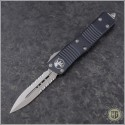 (#138-5) Microtech Troodon D/E Satin Part Serrated - Front