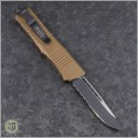 (#139-2TA) Microtech Troodon S/E Partially Serrated with Tan Handle - Back