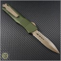(#142-14OD) Microtech Combat Troodon D/E Stonewash Partially Serrated - Back