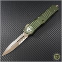 (#142-14OD) Microtech Combat Troodon D/E Stonewash Partially Serrated - Front