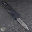 (#142-16CFTI) Microtech Combat Troodon D/E Damascus CF Top Ti HW - Back
