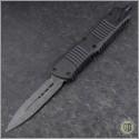 (#142-16CFTI) Microtech Combat Troodon D/E Damascus CF Top Ti HW - Front