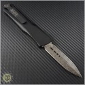 (#142-16) Microtech Combat Troodon D/E Damascus Plain w/ Copper Hardware - Back