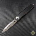 (#142-16) Microtech Combat Troodon D/E Damascus Plain w/ Copper Hardware - Front