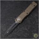 (#142-1TA) Microtech Tan Combat Troodon D/E Plain - Front