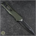 (#142-2OD) Microtech OD Green Combat Troodon D/E Black Partially Serrated Tactical - Back