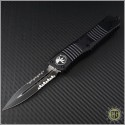 (#142-2T) Microtech Combat Troodon D/E Black Partially Serrated Tactical - Front