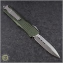 (#142-4OD) Microtech OD Green Combat Troodon D/E Satin Plain - Back