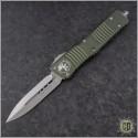 (#142-4OD) Microtech OD Green Combat Troodon D/E Satin Plain - Front