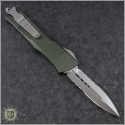 (#142-5OD) Microtech OD Green Combat Troodon D/E Satin Partially Serrated - Back