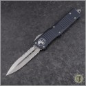 (#142-5) Microtech Combat Troodon D/E Satin Partially Serrated - Front