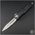 (#142-8) Microtech Combat Troodon D/E Bead Blast Partially Serrated - Front