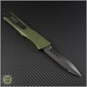 (#142-D3DLCOD) Microtech OD Green Combat Troodon D/E DLC Double Fully Serrated - Back
