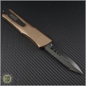 (#142-D3DLCTA) Microtech Combat Troodon D/E Tan DLC Double Fully Serrated - Back
