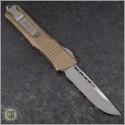 (#143-10TA) Microtech Tan Combat Troodon S/E Stonewash Plain - Back