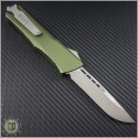 (#143-4SOD) Microtech OD Green Combat Troodon S/E Satin Plain - Smooth Handle - Back