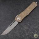 (#143-4TA) Microtech Tan Combat Troodon S/E Satin Plain - Front