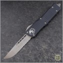 (#143-5) Microtech Combat Troodon S/E Satin Partially Serrated - Front