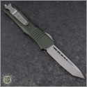 (#144-10OD) Microtech Combat Troodon Tanto Stonewash Plain, OD Green Handle - Back