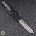 (#144-11) Microtech Combat Troodon Tanto Stonewash Partially Serrated - Back