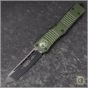 (#144-1OD) Microtech OD Green Combat Troodon Tanto Black Plain - Front