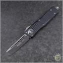 (#144-1) Microtech Combat Troodon Tanto Black Plain - Front