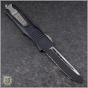 (#144-2) Microtech Combat Troodon Tanto Black Partially Serrated - Back